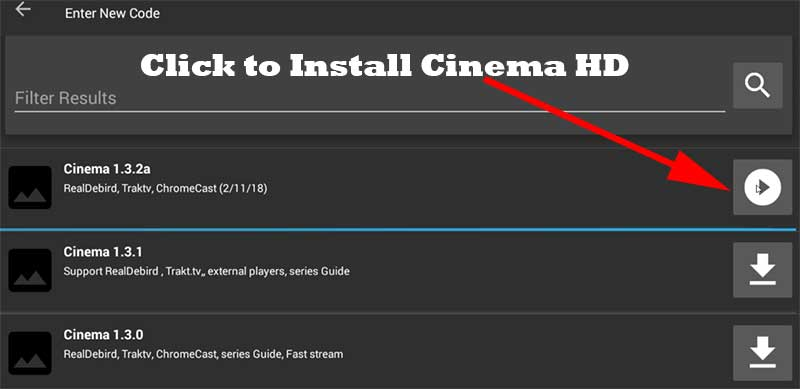Install Cinema HD on Amazon Fire TV using official