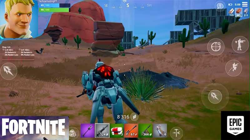 Fortnite game play